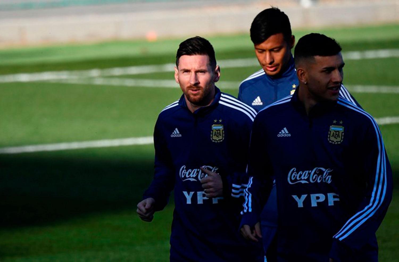 Messi ya se entrena con la selección argentina en Madrid