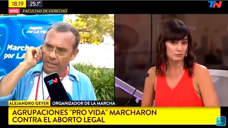 Jimena Barón indignada con el coordinador pro vida: