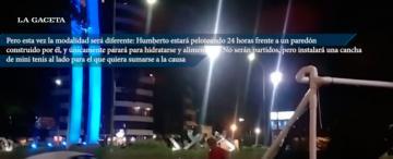 Podría ser récord Guinnes: Humberto se prepara para 24 horas de tenis por una buena causa