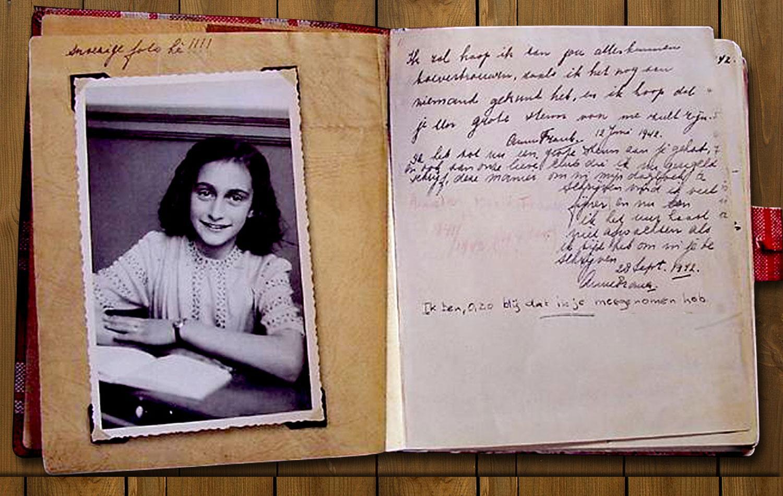 Revelaron por primera vez, el diario completo y original de Ana Frank