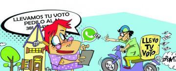 Delivery de votos: llevan la boleta a casa para fidelizar a los electores