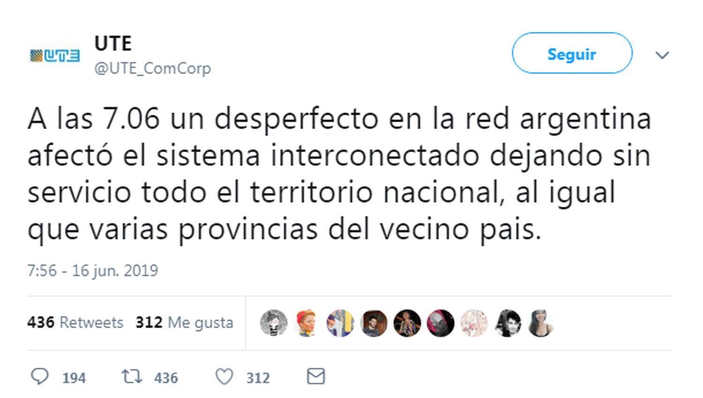 Apagón se originó en conexión de energía fronteriza
