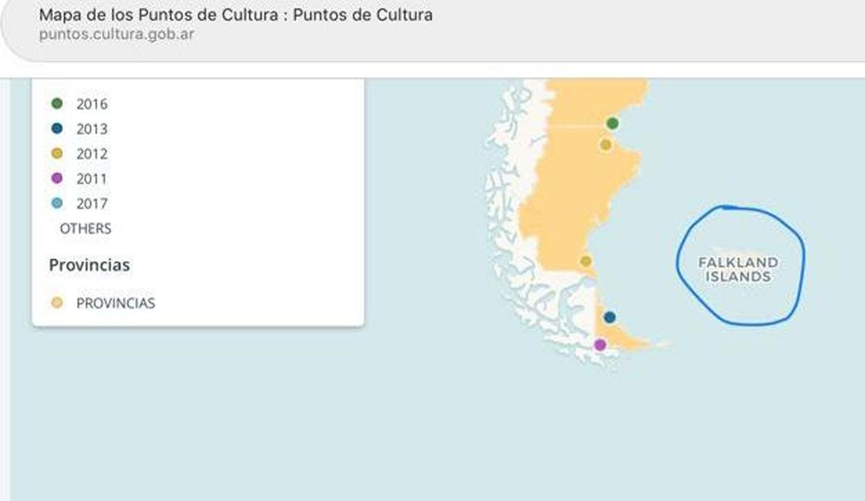 Papelón: el Gobierno publicó un mapa donde llama