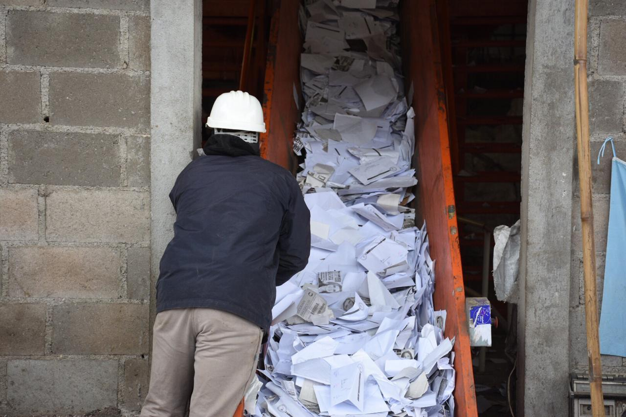 La Junta Electoral proclamó a los candidatos electos y destruyó el material de los comicios