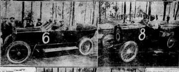 La primera carrera de automóviles
