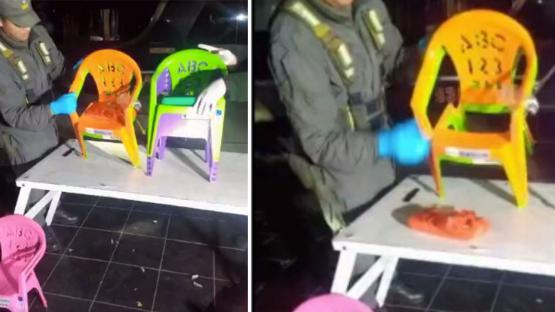 Ocultaban cocaína en sillitas plásticas que eran trasladadas desde Tucumán