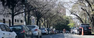 Los automovilistas convirtieron la zona de la Legislatura y de los Tribunales en tierra de nadie