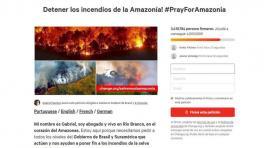 Millones de firmas en plataformas online reclaman políticas para defender la selva