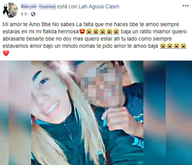 El joven que mató a su novia de 16 años está prófugo de la Justicia y se burla de la fiscal Giannoni en Facebook 1