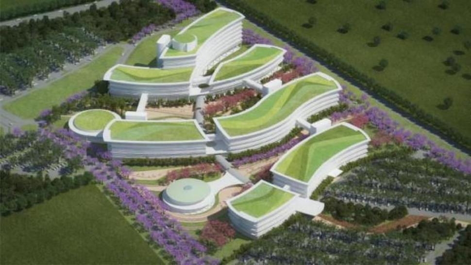 MAQUETA. La obra estará ubicada a la vera de la ruta 9, en Los Pocitos (Tafí Viejo), y albergará oficinas del Ejecutivo.