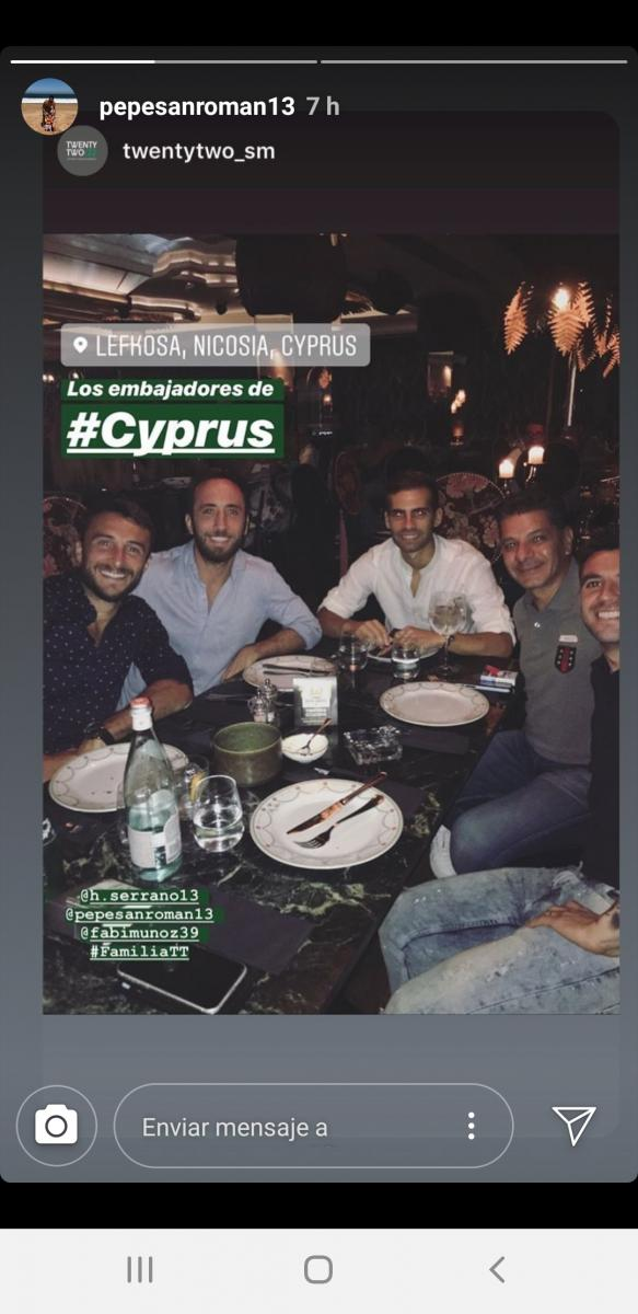 San Román disfruta del Mediterráneo con su nuevo club en la isla de Chipre