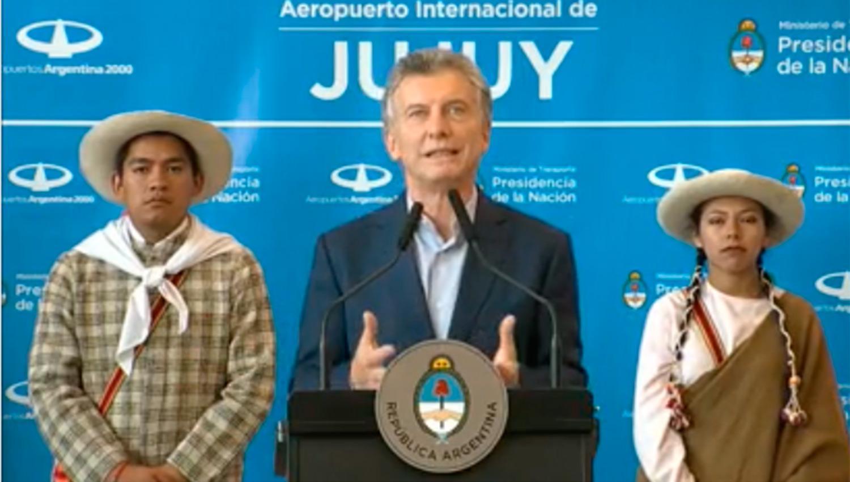 Política: El curioso blooper de Macri durante su acto en Jujuy