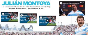 Infografía: la histórica actuación de Julián Montoya en Los Pumas
