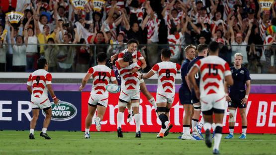 Japón dio otro golpe: eliminó a Escocia y se metió en cuartos de final