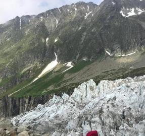 La tucumana que es testigo del deshielo de los glaciares de los Alpes