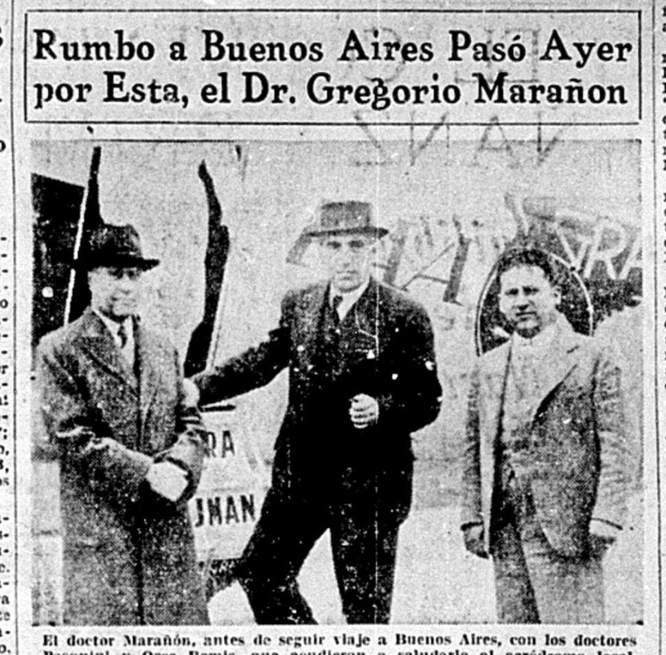 Hojeando el diario: Gregorio Marañón estuvo unos minutos en Tucumán - Actualidad | La Gaceta - La Gaceta