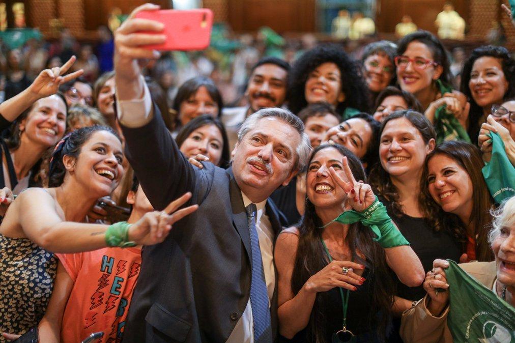 Contundente apoyo de Alberto Fernández para la aprobación del aborto legal