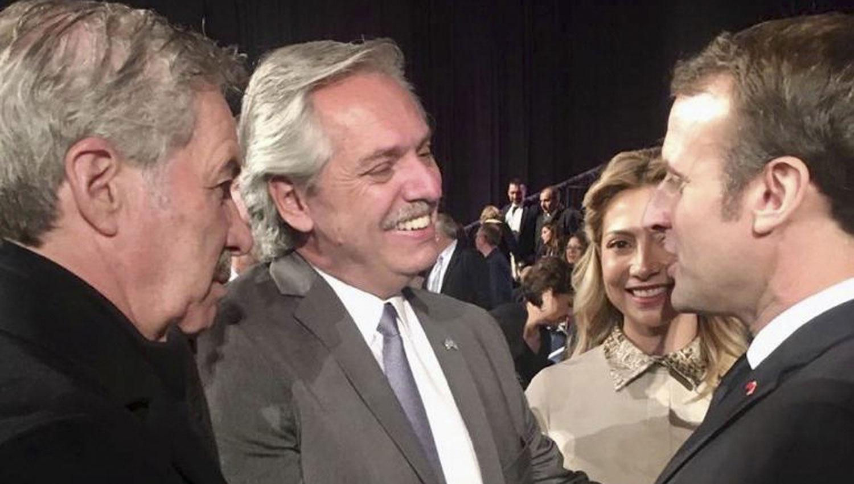 Alberto Fernández y Macron