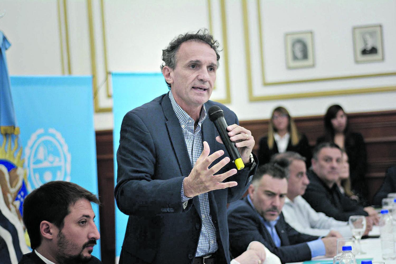 FUNCIONARIO NACIONAL. El ministro Katopodis está a cargo de Obras Públicas. Foto: Télam