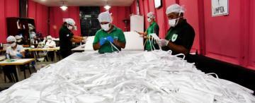 En la provincia se fabricarán 100.000 barbijos