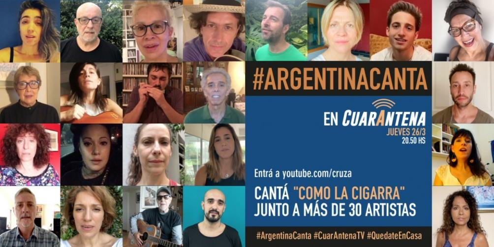 Coronavirus: 35 músicos argentinos cantarán en las redes