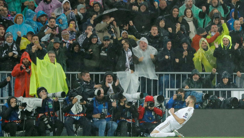 Karim Benzema, del Real Madrid, escolta en la tabla de goleadores a Lionel Messi. (ARCHIVO)