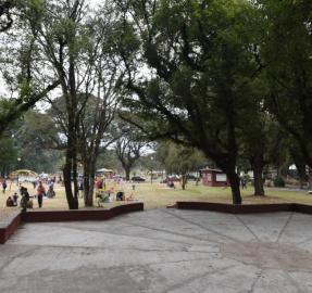 El Parque 9 de Julio se renueva: los chicos estrenaron las obras antes que se habiliten