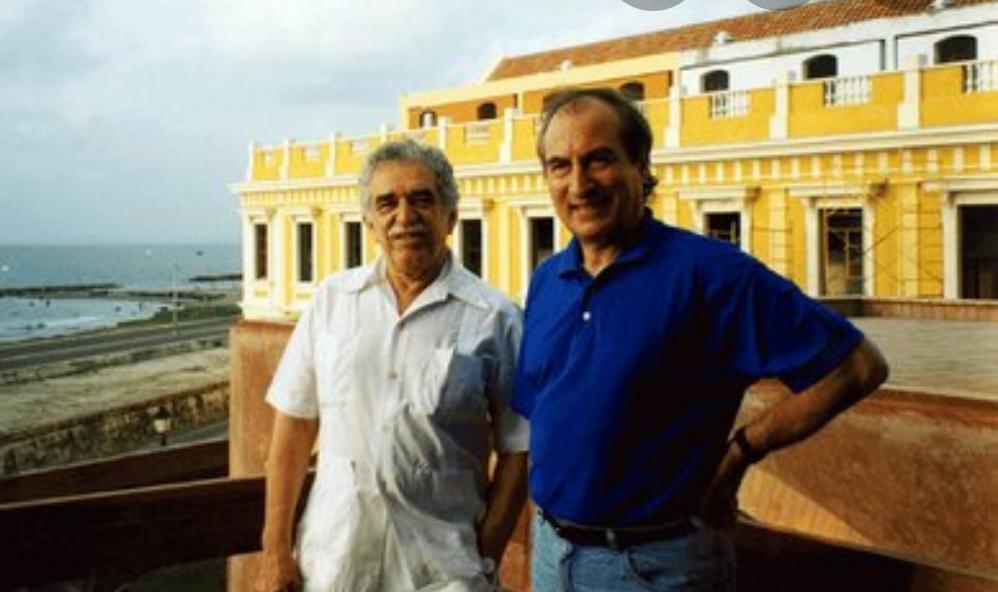 En Cartagena de Indias, Gabriel García Márquez y Tomás Eloy Martínez.