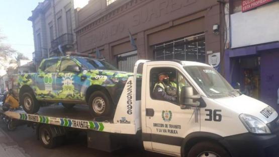 Los municipales multados tendrán que pagar $ 1.410 por obstruir el tránsito