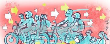 Tucumán anda en moto y a contramano