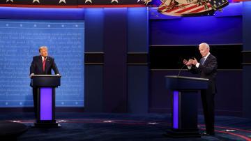 Trump y Biden mostraron sus diferencias en el último debate antes de las elecciones