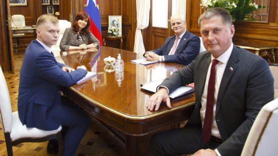 Cristina Fernández recibió esta tarde en el Senado al embajador de Rusia