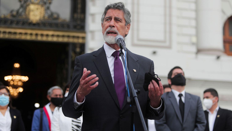 El Congreso de Perú aprueba su nombramiento como presidente interino — Francisco Sagasti