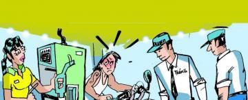 Cruces por los controles de casco a motociclistas