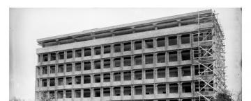 Tucumán retro: el edificio de la Maternidad, en plena construcción a fines de los '50