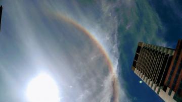 Fenómeno en Tucumán: ¿por qué se conformó una especie de arcoíris alrededor del sol?