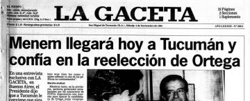 Sin decirlo, Menem dijo que