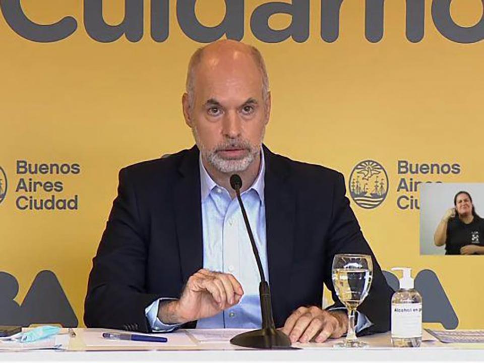 Horacio Rodríguez Larreta. Captura de video