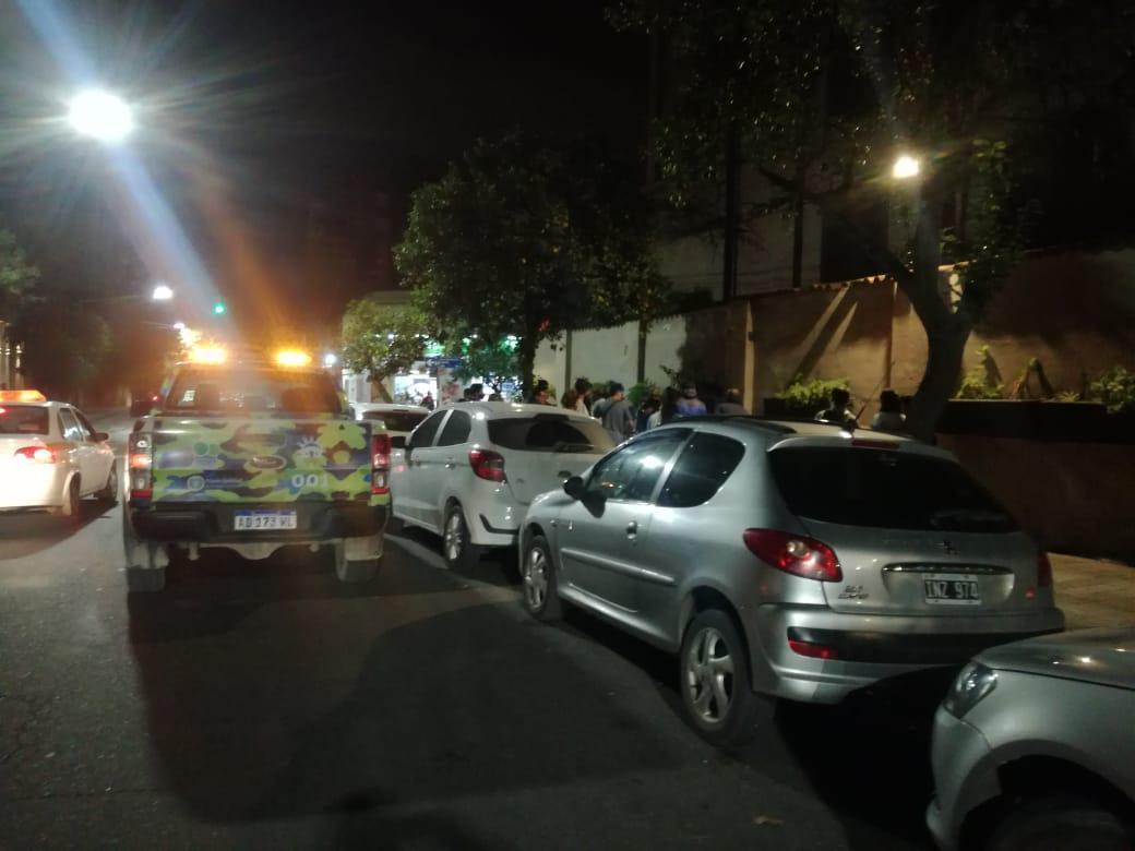 La Policía intervino en el incidente ocurrido esta noche en Barrio Norte.
