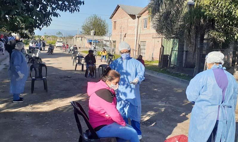 BÚESQUEDA ACTIVA DE FEBRILES. El programa se llevó a cabo en localidades del interior. Foto de Prensa Salud