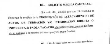 """Tacacho me persigue en forma irracional"", afirmó el femicida"