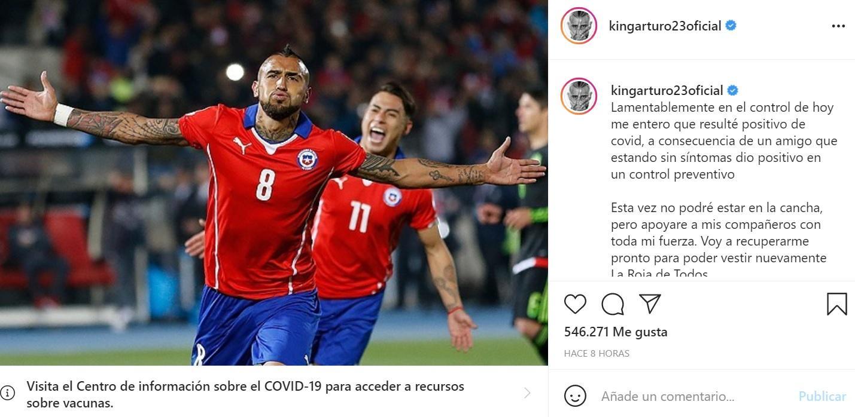 Arturo Vidal fue internado por coronavirus y no jugará ante Argentina - LA  GACETA Tucumán