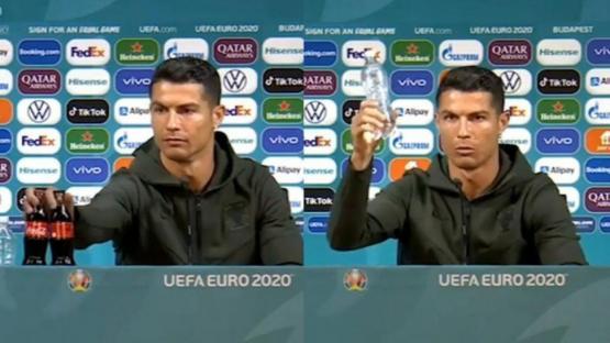 Un gesto de Ronaldo le costó millones de dólares a la Coca