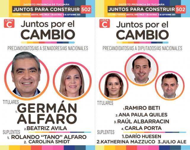 Rumbo a las PASO: las 12 boletas que estarán en cada cuarto oscuro de  Tucumán - LA GACETA Tucumán