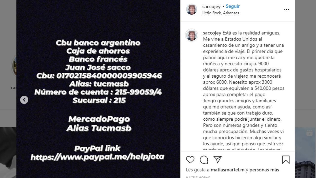 joven tucumano tuvo accidente estados unidos necesita ayuda para cirugia 909170 125050