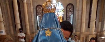 Cómo es el nuevo manto de la Virgen de Catamarca