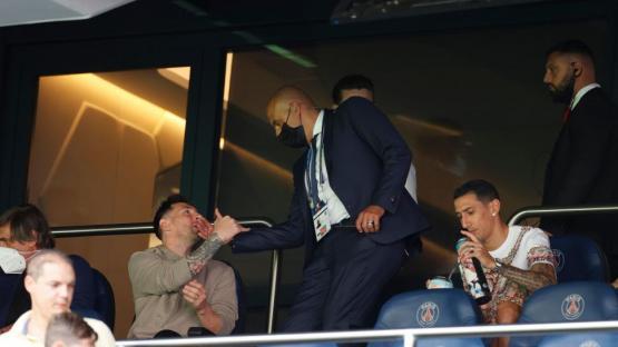 Messi, espectador de lujo en París