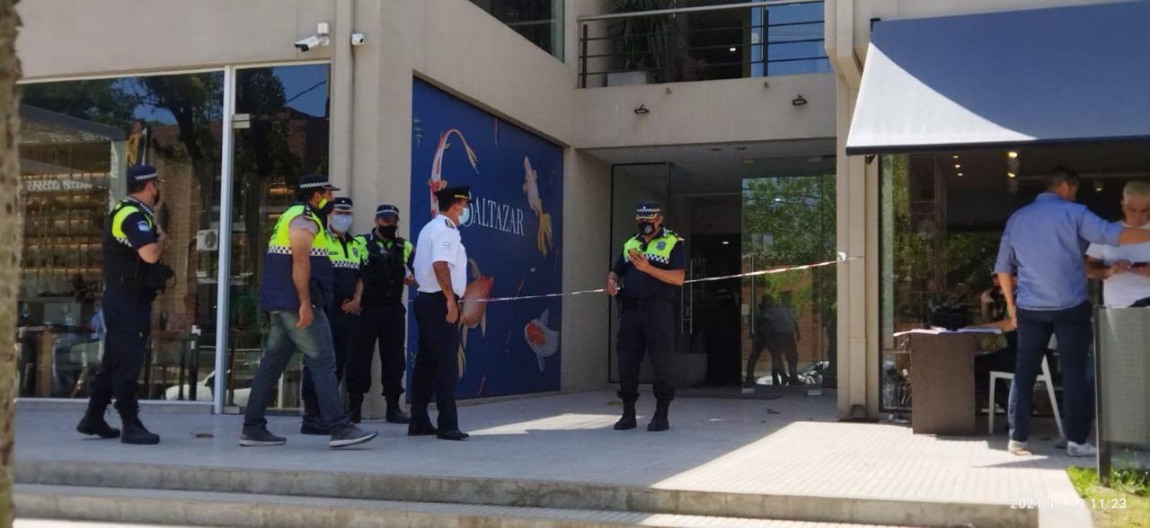 EL LUGAR DEL HECHO. El ataque se produjo en avenida Aconquija y Chacho Peñaloza, Yerba Buena. Foto: Prensa Ministerio de Seguridad