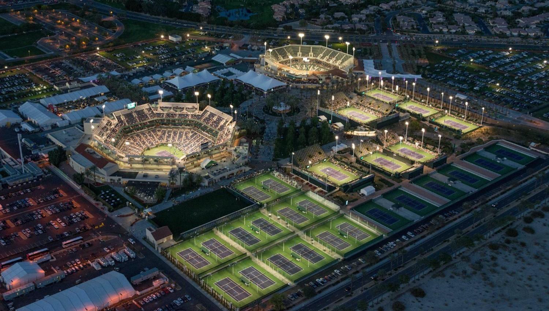 IMPONENTE. El complejo Indian Wells Tennis Garden está ubicado al sudeste de California, cerca de Palm Springs.