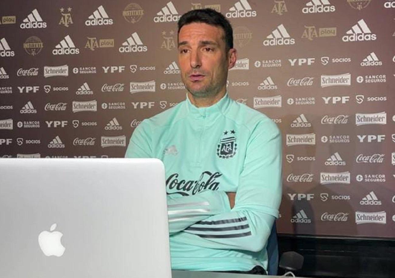 Scaloni: el partido con Brasil será en San Juan, más allá de que nos guste el césped de River